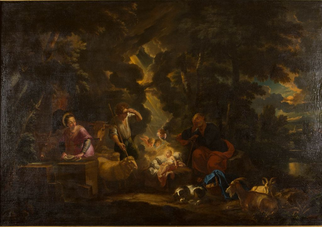 The Nativity with the Shepherds, by Pieter Mulier, Il Tempesta (1637-1701).