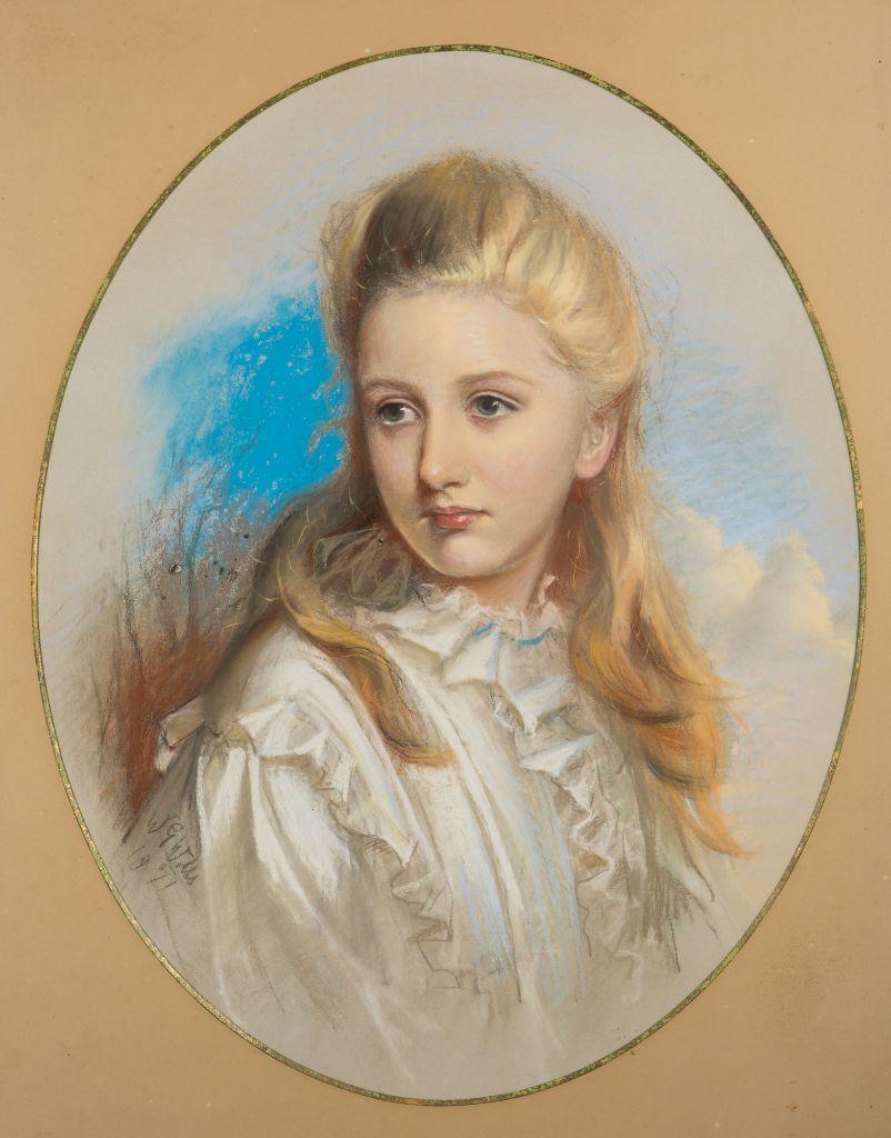 Portrait of Isabella Whichcote, by William Gorman Wills (1828-1891).