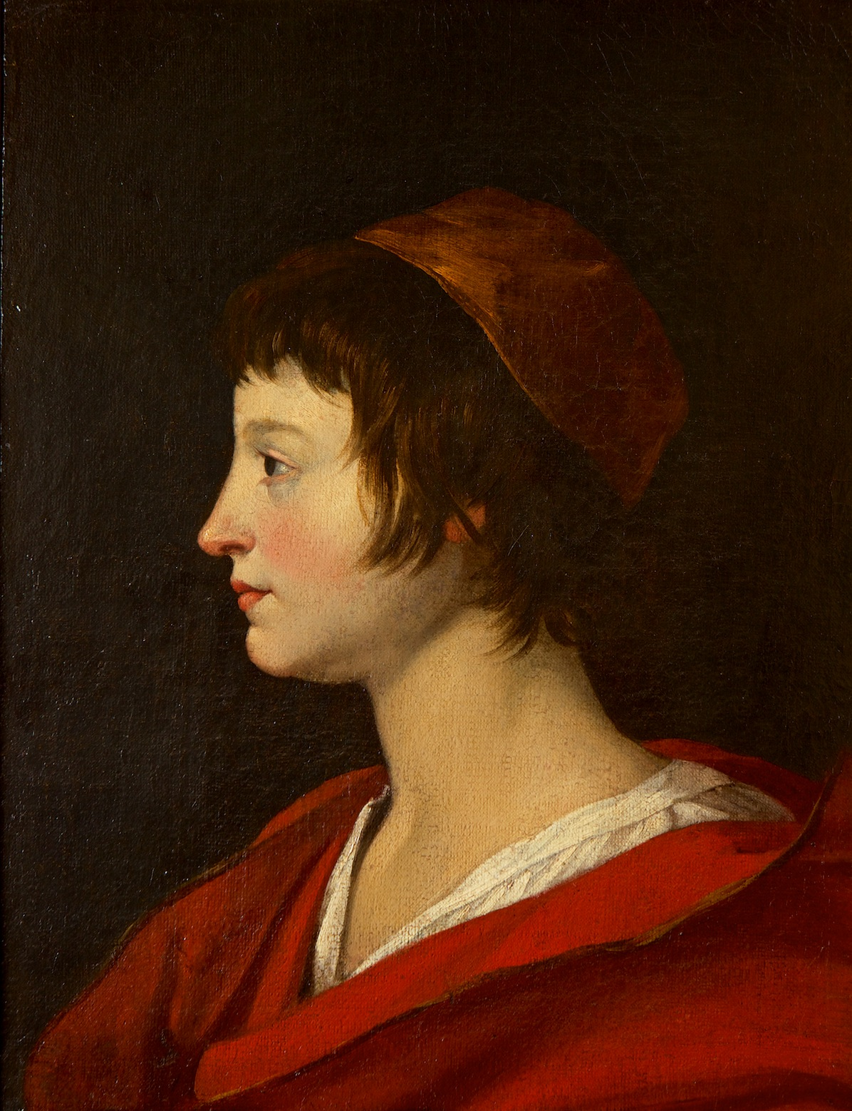 The Head of a Young Man, Attributed to Jean Tassel (1608-1667).