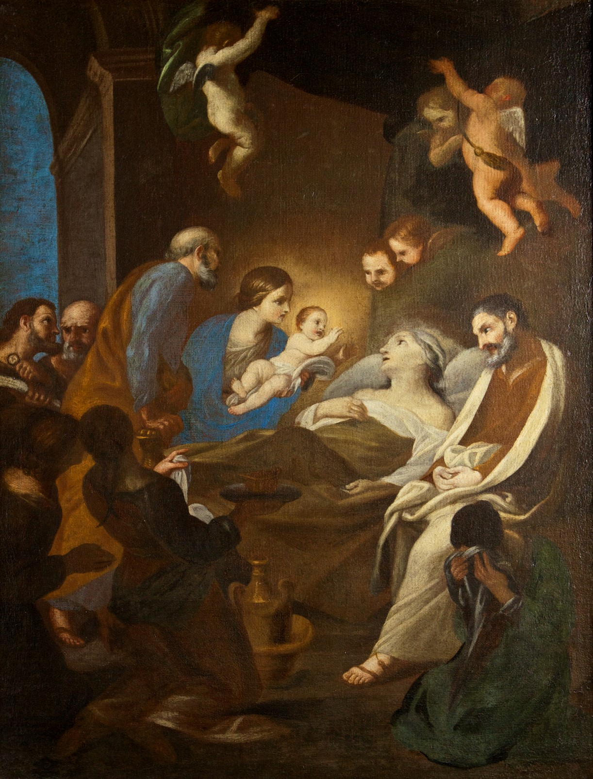 The Death of St Anne, After Andrea Sacchi (1599-1661).
