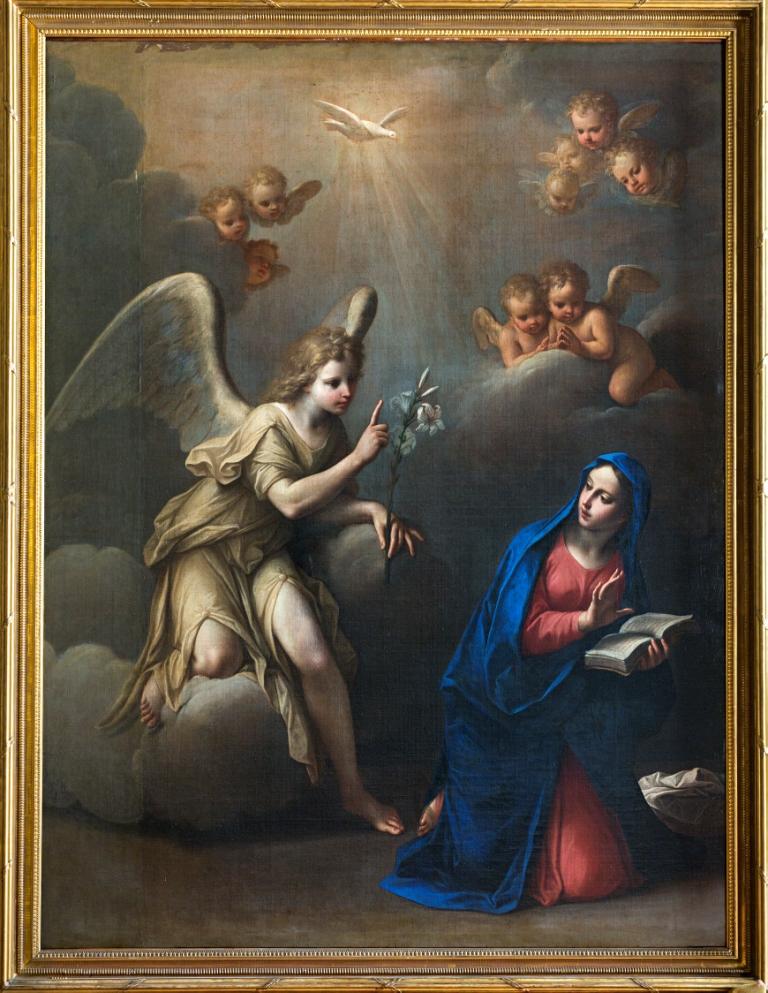 The Annunciation, Studio of Marcantonio Franceschini (1648-1729).