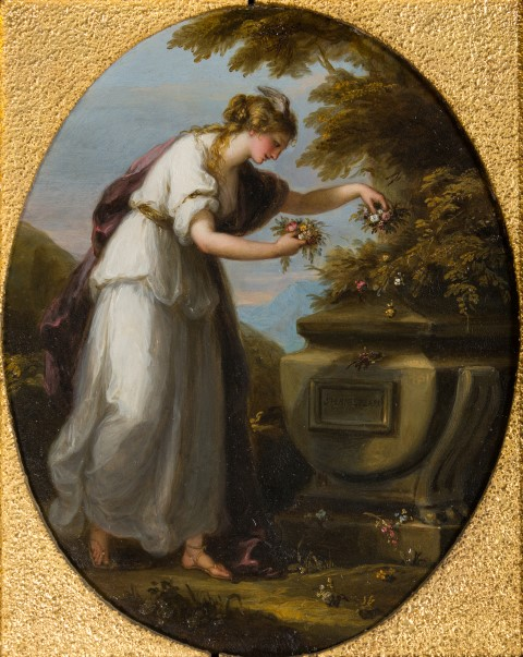 Fame Decorating Shakespeare's Tomb, by Angelica Kauffman, R.A. (1741-1807).