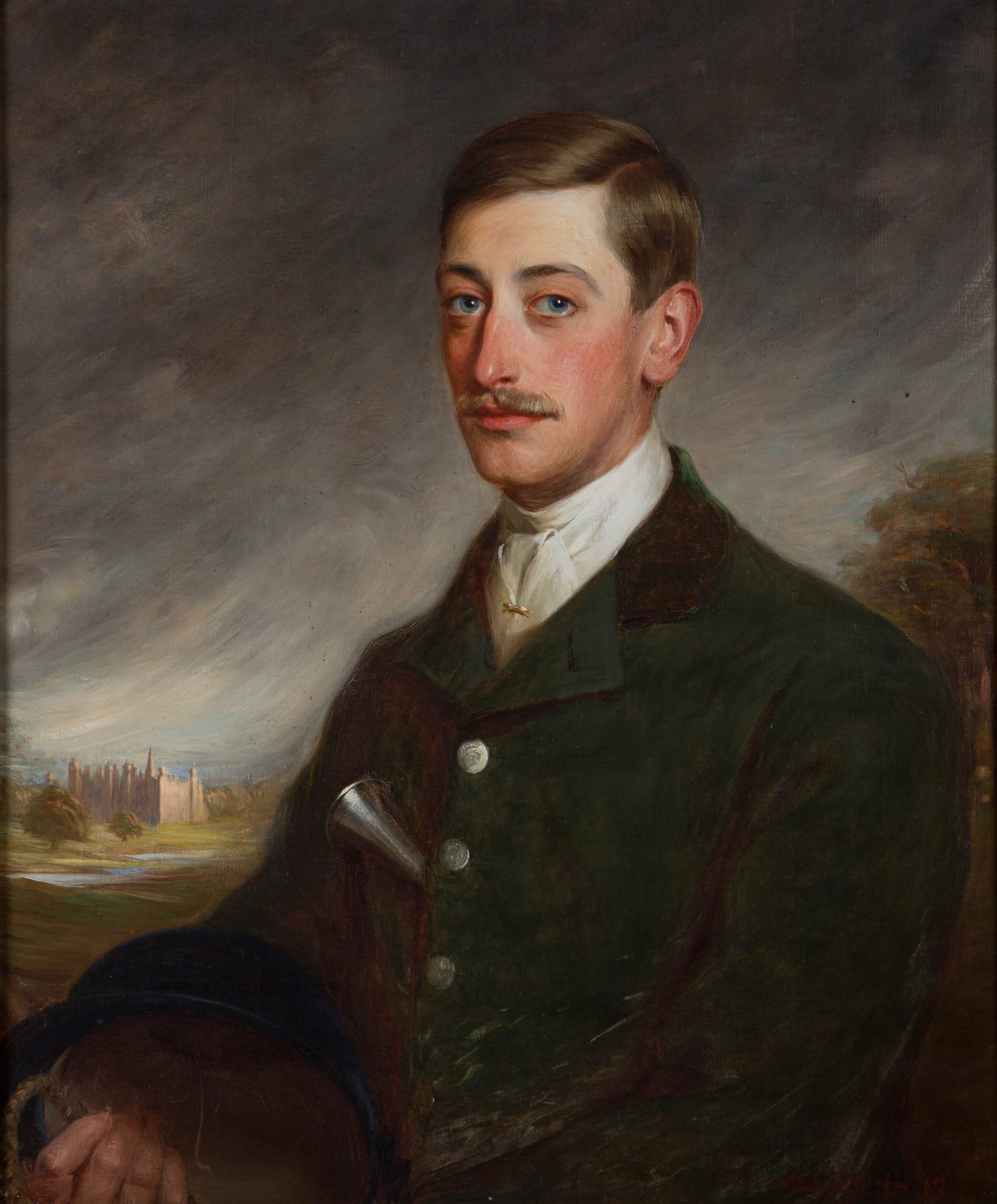 Portrait of William, 5th Marquess of Exeter, by Shirley Charles Llewellyn Slocombe (1849-1923).