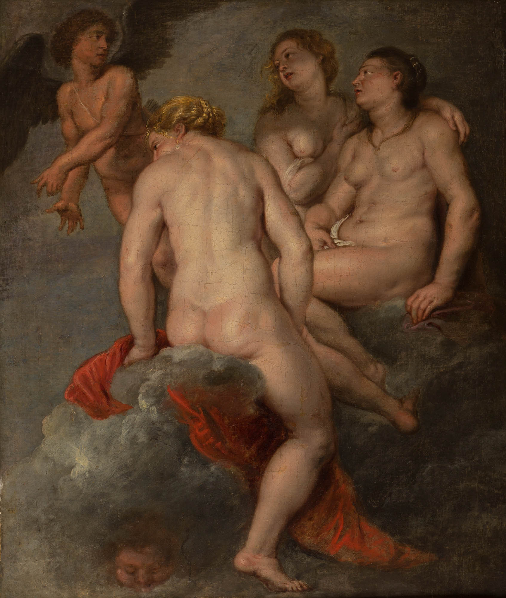 The Three Graces Upon Clouds, Follower of Sir Peter Paul Rubens (1577-1640).