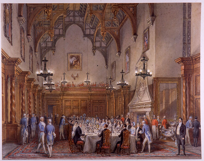 The Banquet during the Royal Visit of 1844 by Henry Bryan Ziegler (1793-1874).