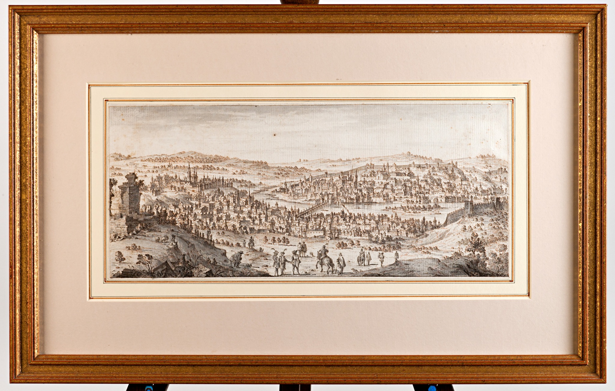 A View of the City of Prague, Attributed to Giovanni Battista Albrizzi (1698-1779).