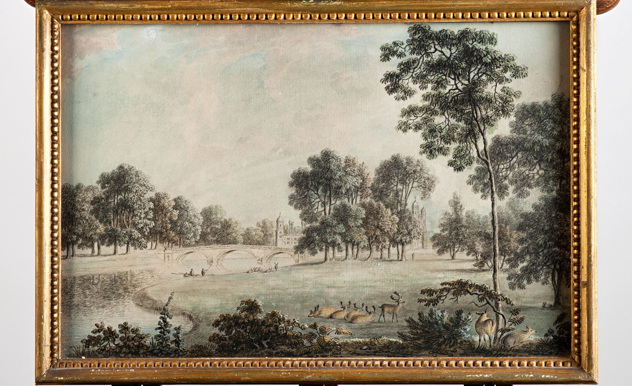 A set of sixteen views of Burghley, The House, The Park, The Adjacent Landscape and The Town of Stamford, by Anthony Devis (1729-1817).