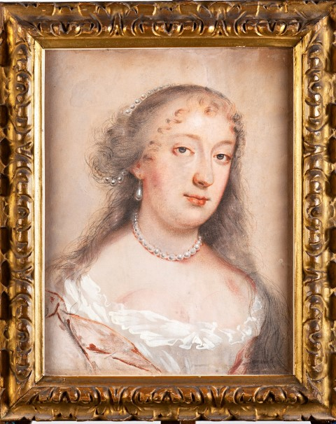 Portrait of Elizabeth, Countess of Exeter, Attributed to John Greenhill (1644-1676).