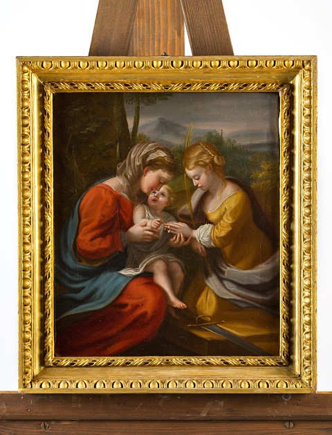 The Mystic Marriage of St. Catherine, by Angelica Kauffmann (1741-1807), after Antonio Allegri, il Correggio (1489-1534).