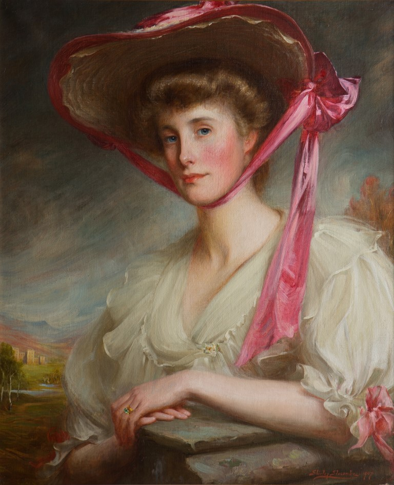 Portrait of Myra, Marchioness of Exeter, by Shirley Charles Llewellyn Slocombe (1849-1923).