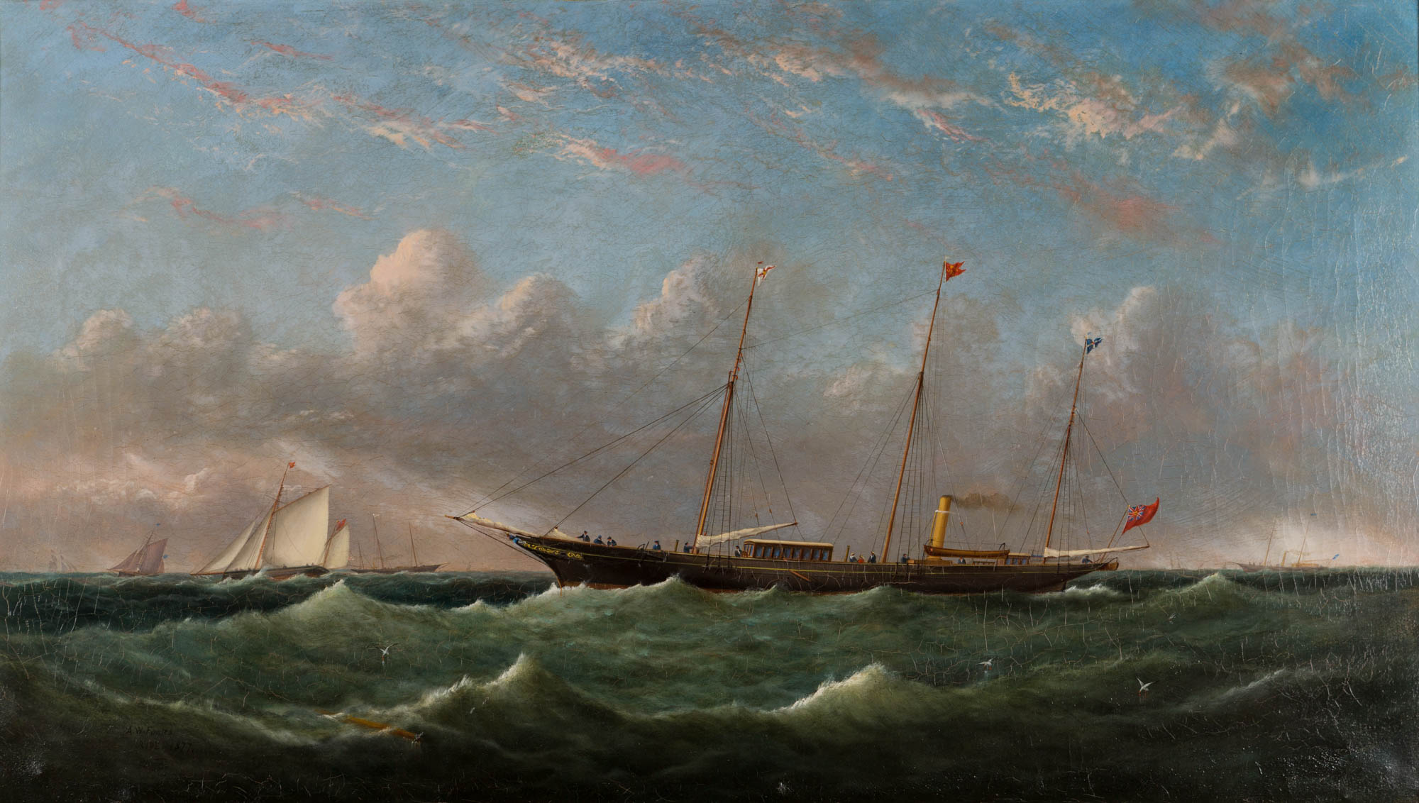 The Steam Yacht Queen of Palmyra, by Arthur Wellington Fowles (1815-1883).