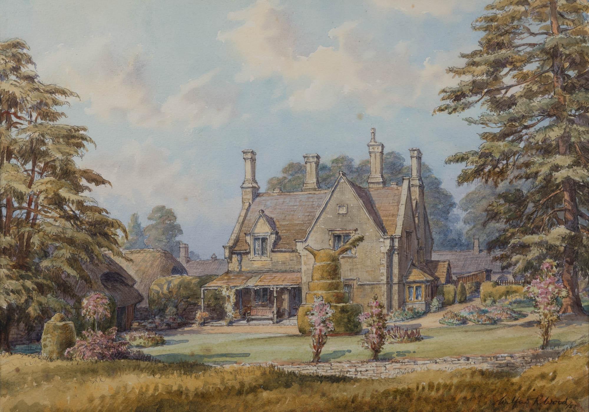 The Dairy Farm, by Wilfrid Reni Wood (1888-1976).