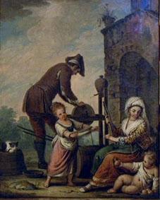 A Knifegrinder, by Pietro Fabris (1740-1792).