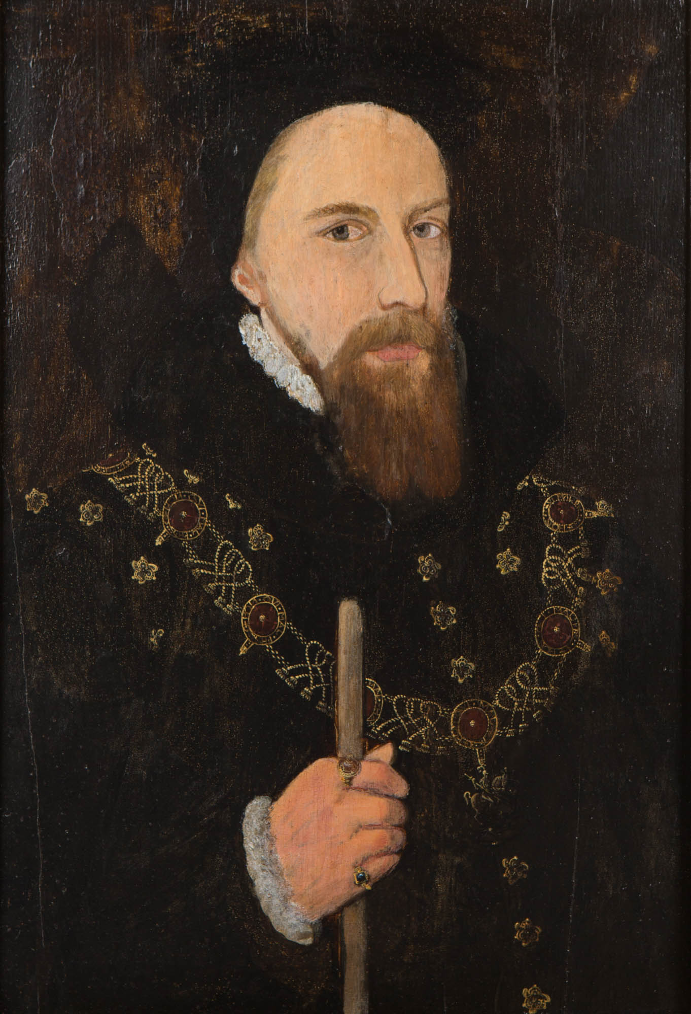 Portrait of William Cecil, Lord Burghley, English School, late 16th Century.