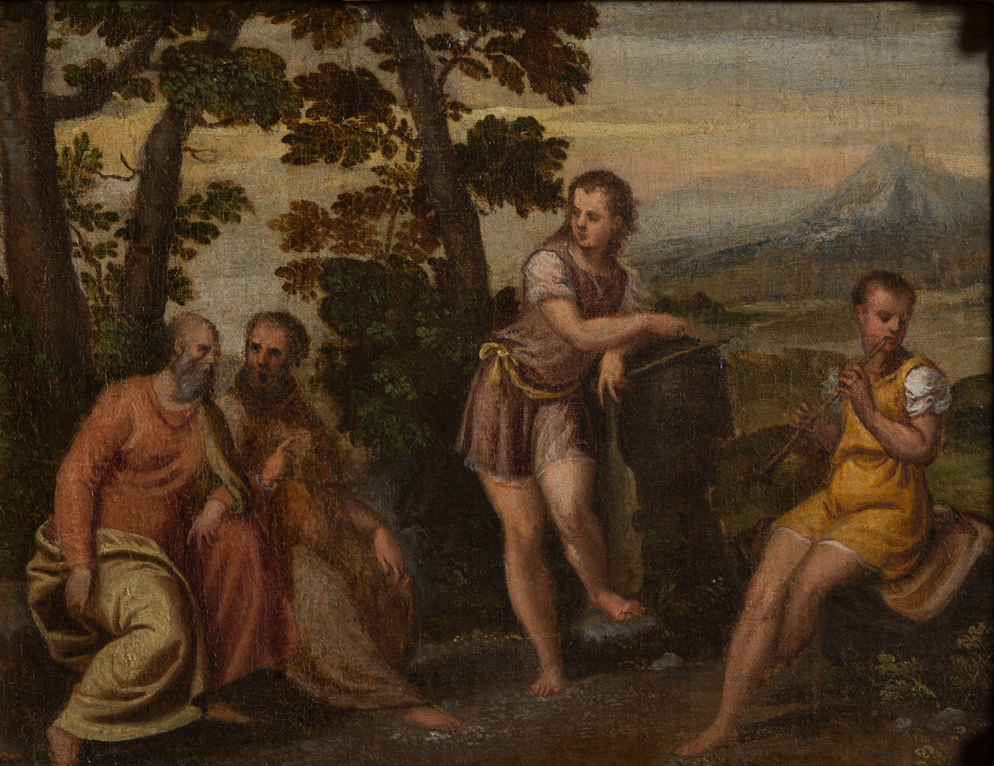 An Allegory of Youth and Old Age, Circle of Andrea Meldolla, lo Schiavone (1522-1563).