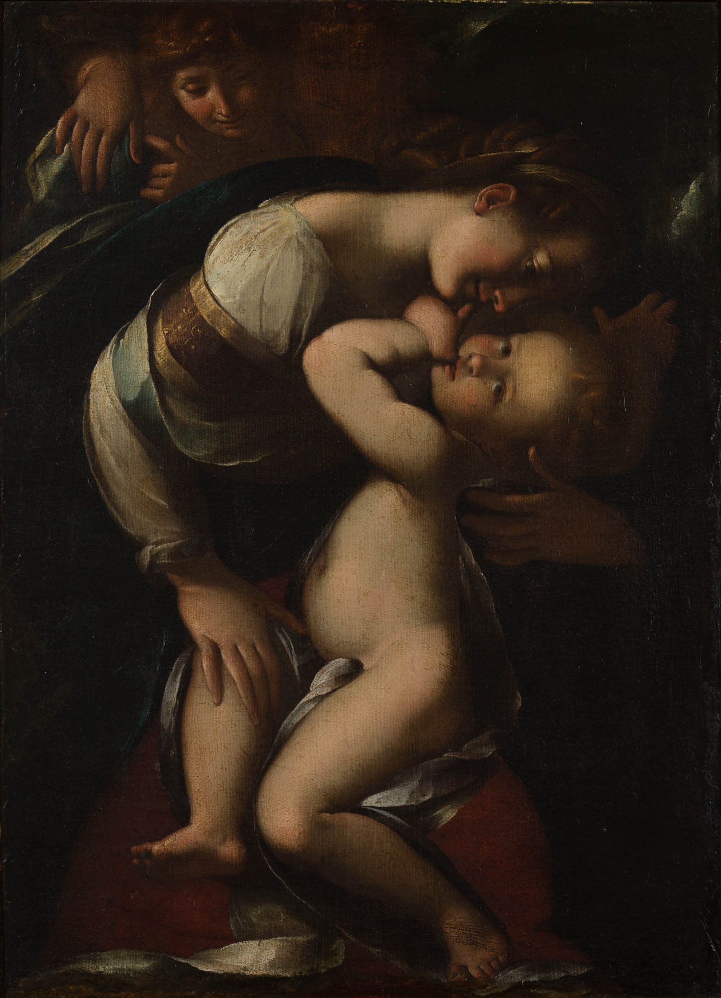 Madonna and Child with Two Angels, After Giulio Cesare Procaccini (1574-1625).