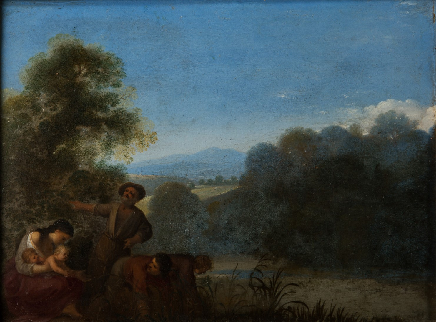 Latona and the Peasants, by Cornelis van Poelenburgh (1594-1667).