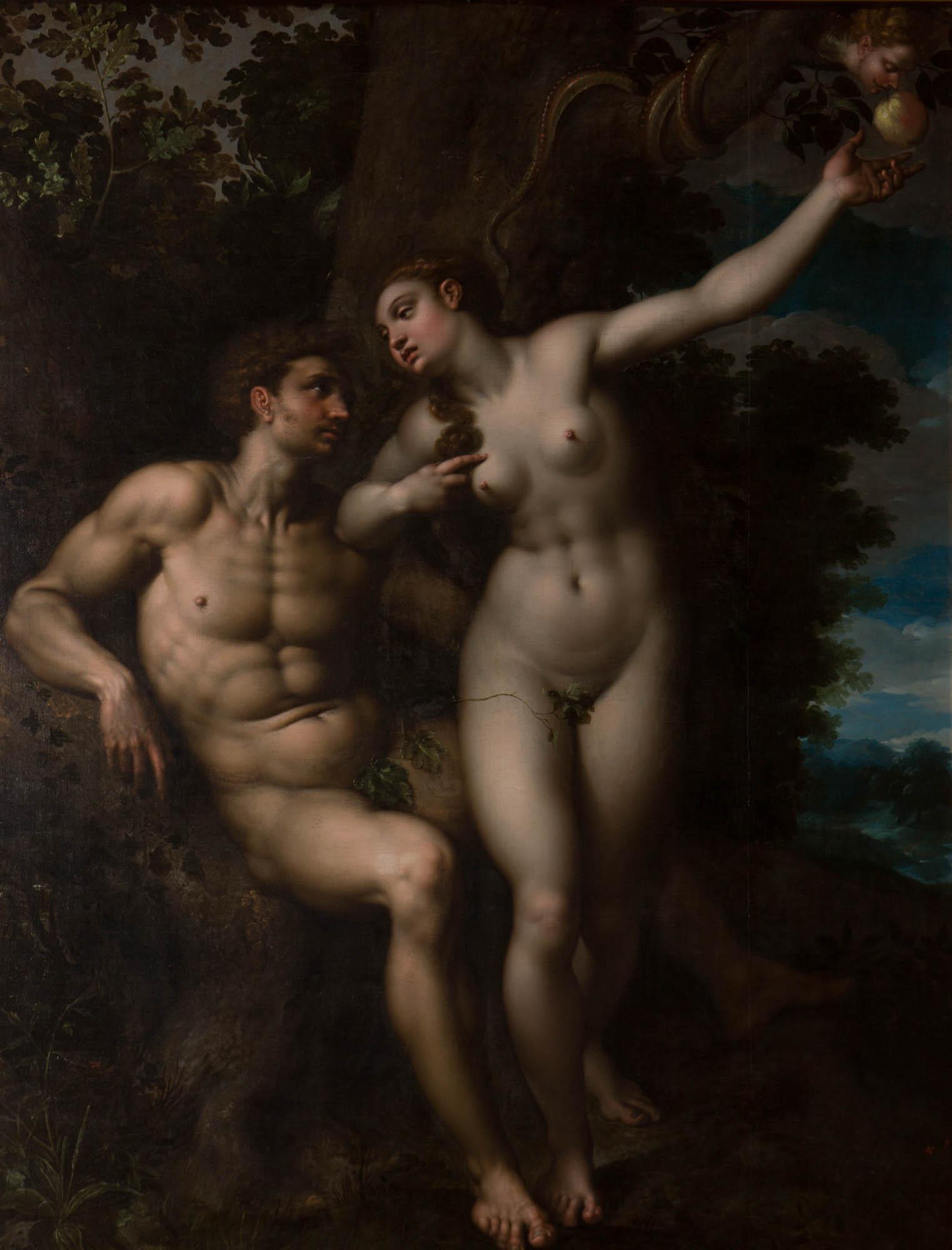 Adam and Eve, by Jacob De Backer (1555-1585).