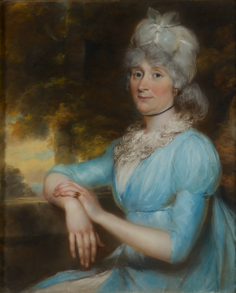 A Portrait of Miss Hauchecorne, Governess to the Children of Henry, Ist Marquess of Exeter, by John Russell, R.A. (1745-1806)