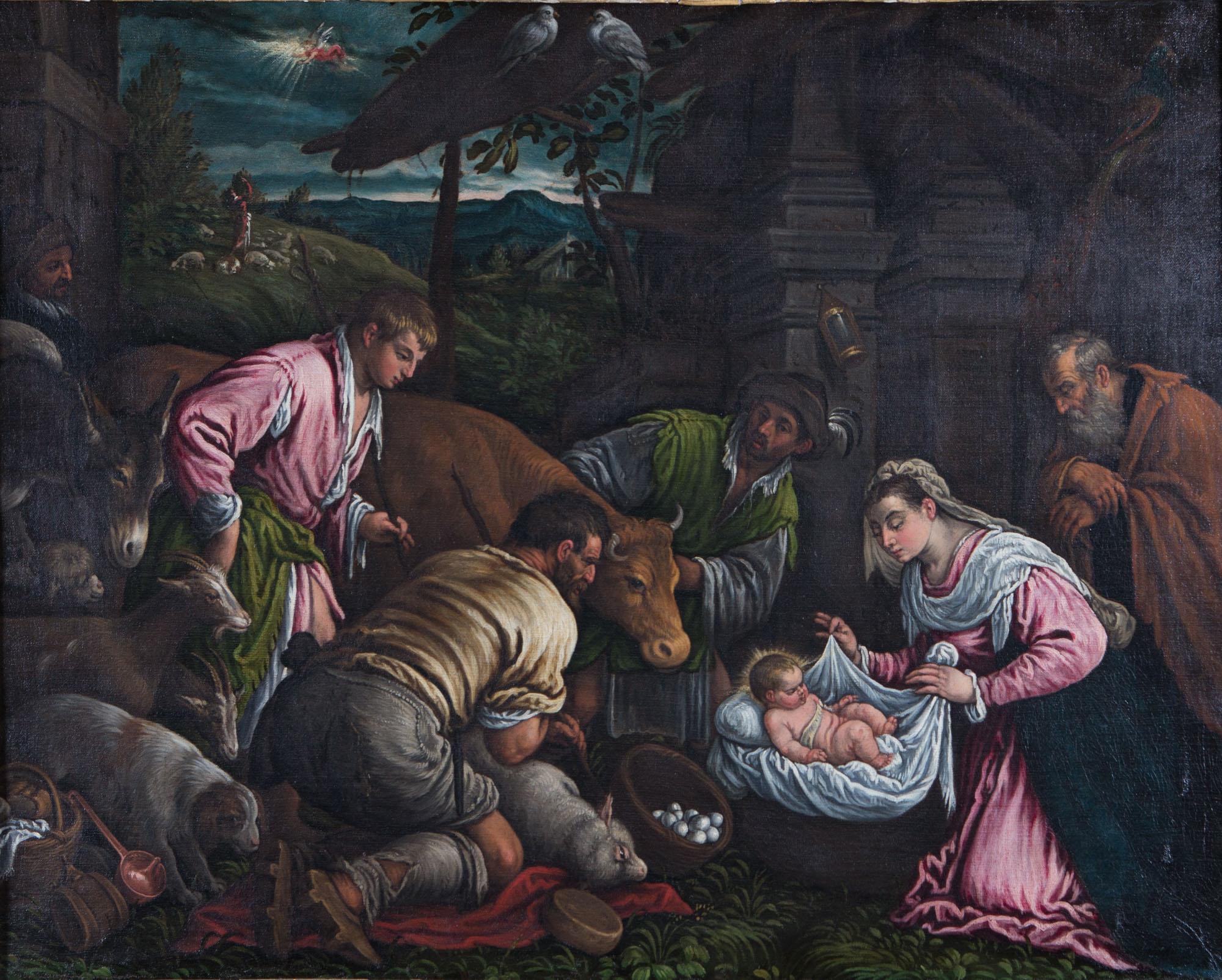 Adoration of the Shepherds, by Giacomo Apollonio (1582/4-1654).