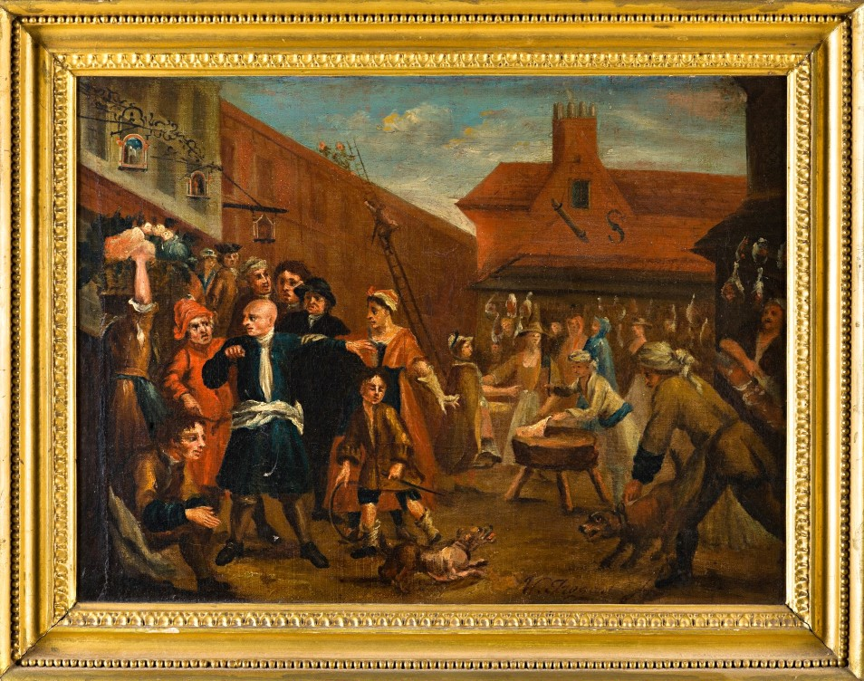 In the Market, Follower of William Hogarth.