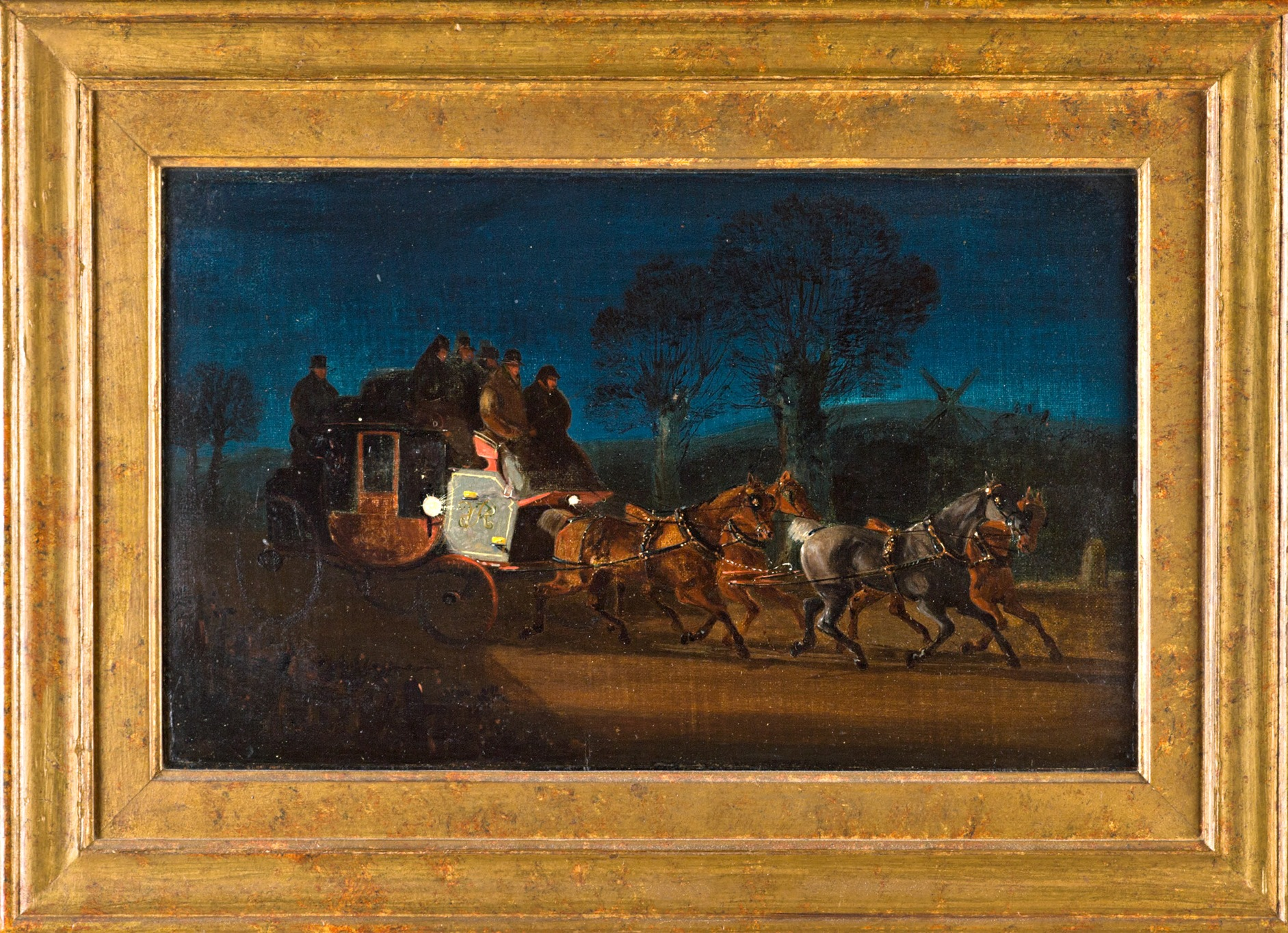 The York – London Royal Mail Coach at Night, by Henry Alken, Jun. (1810-1894).