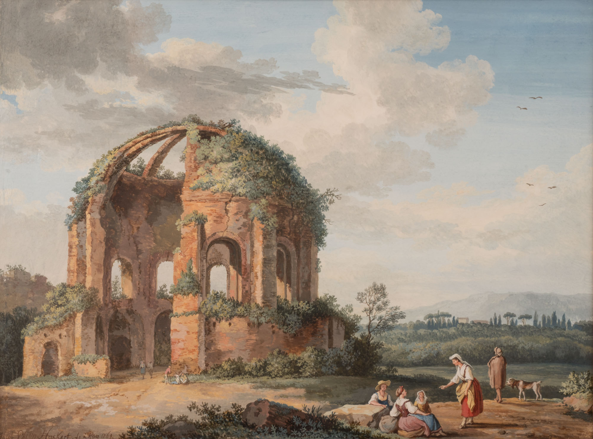 Women near a Ruined Temple, by Jakob Philipp Hackert (1737-1807).