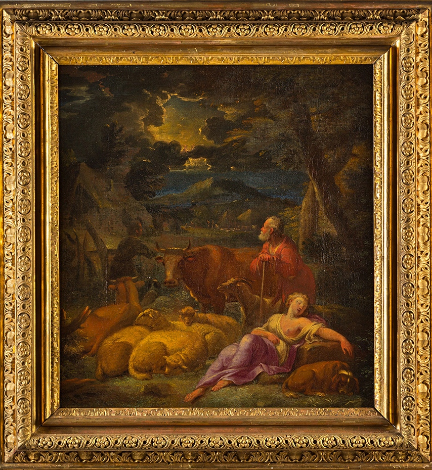 The Annunciation to the Shepherds, by Pieter Mulier, Il Tempesta (1637-1701).