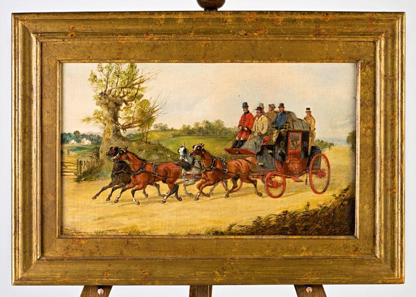 The York – London Royal Mail Coach by Day, by Henry Alken, Jun. (1810-1894).