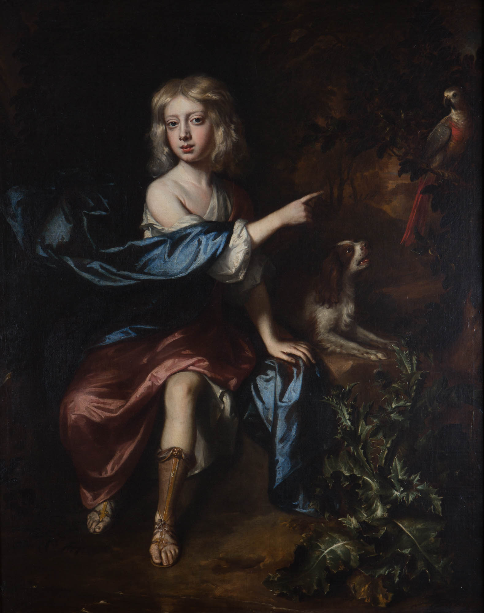 Portrait of a the Hon. William Cecil, as a Boy, by William Wissing (1656-1687).