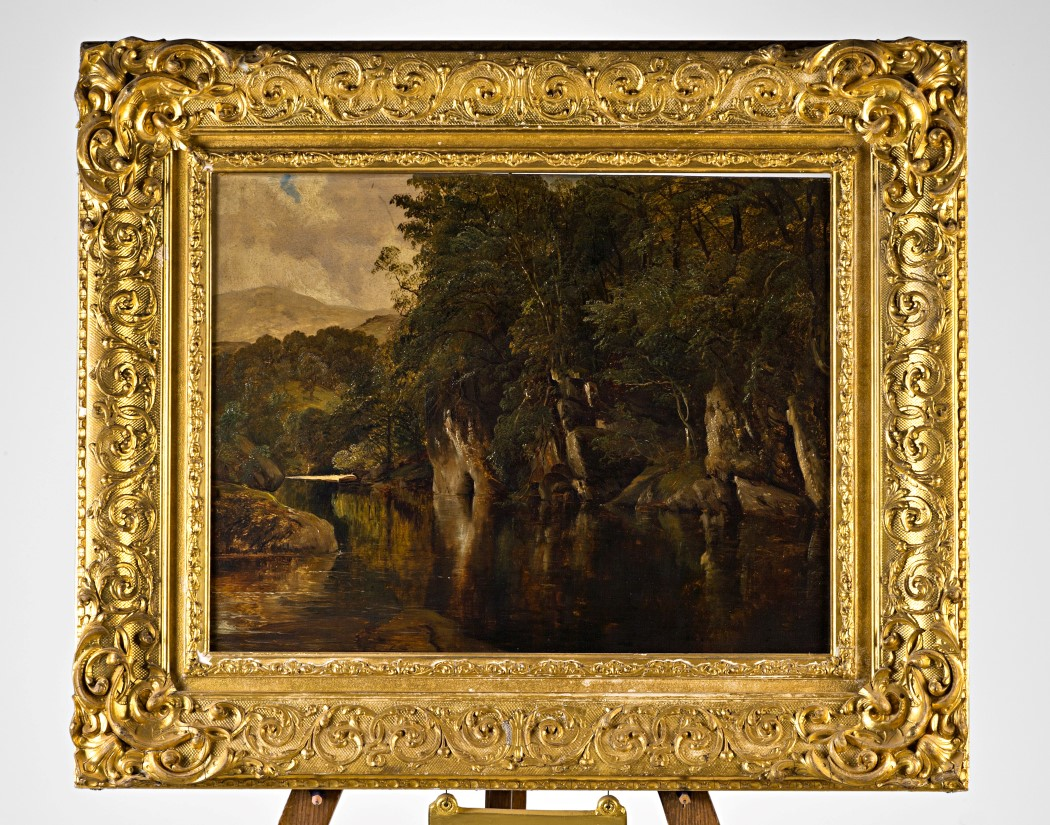 A Rocky River Landscape, by Frederick Richard Lee, R.A. (1798-1879).