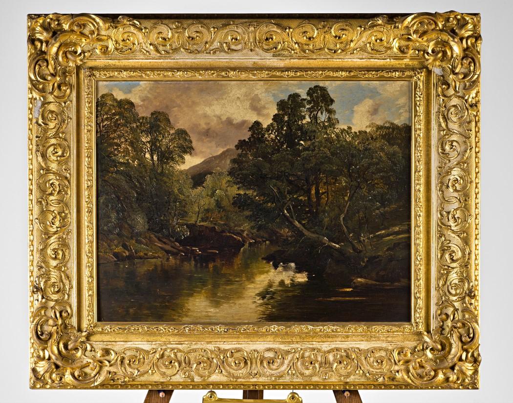 A Rocky River Landscape, by Frederick Richard Lee, R.A. (1798-1879).