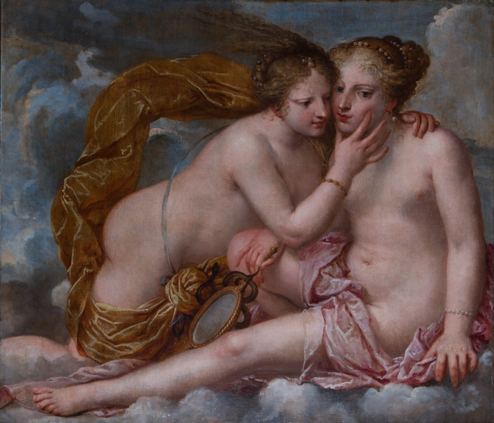 Fortune Embracing Prudence, by Pietro Liberi (1605-1687).