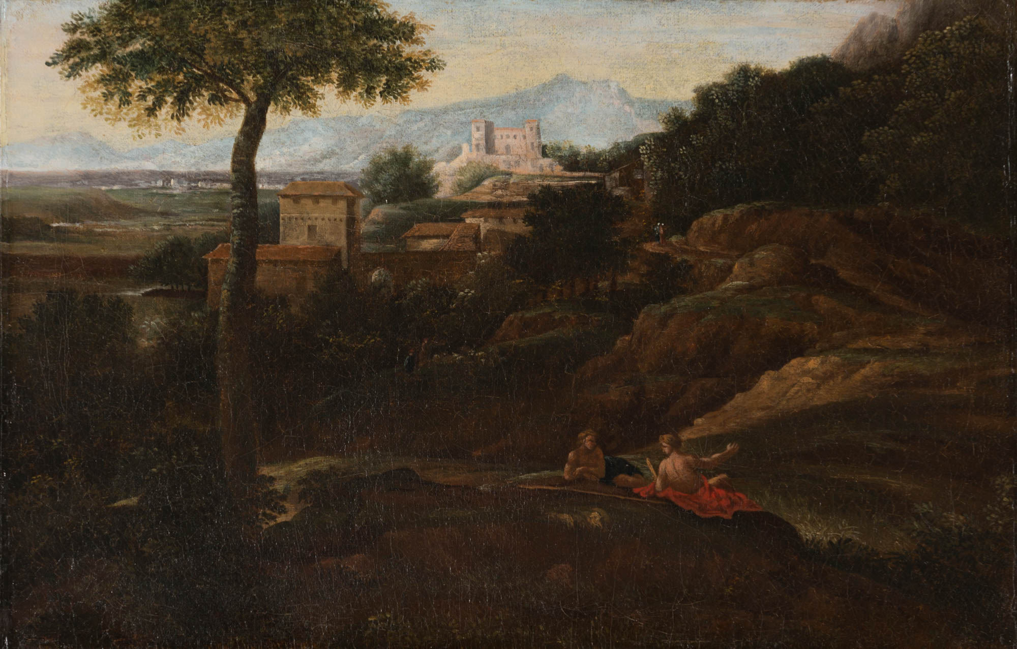 A Southern Landscape by a Follower of Gaspard Dughet  (1615-1675).