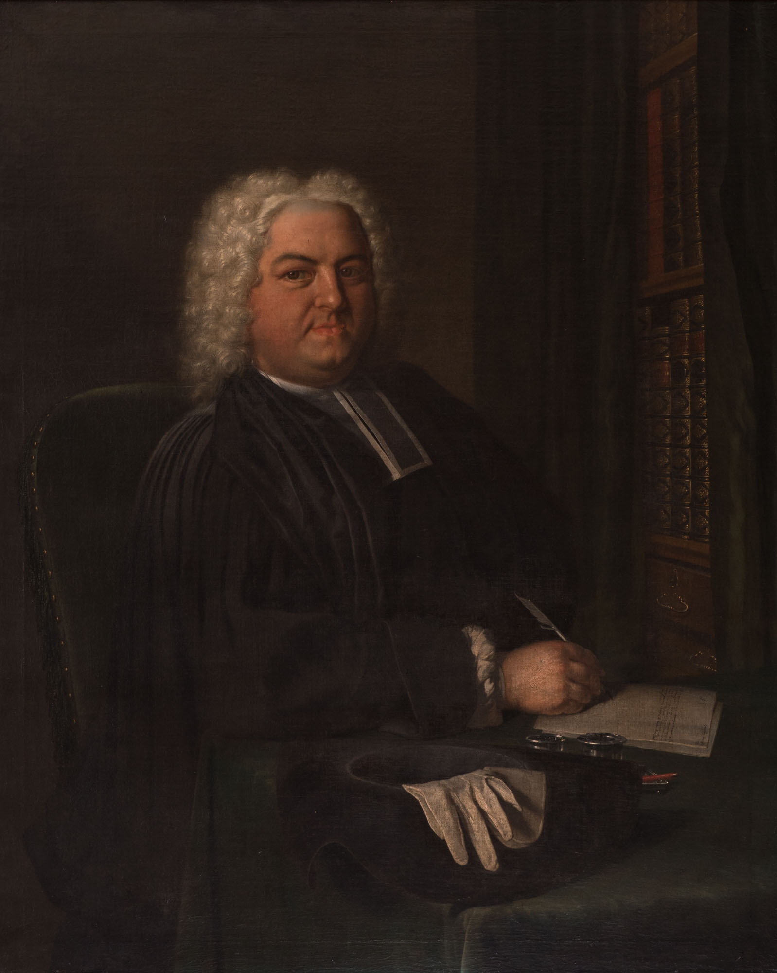 A Portrait of the Rev. William Chambers, by Frans van der Mijn (1719-1783).