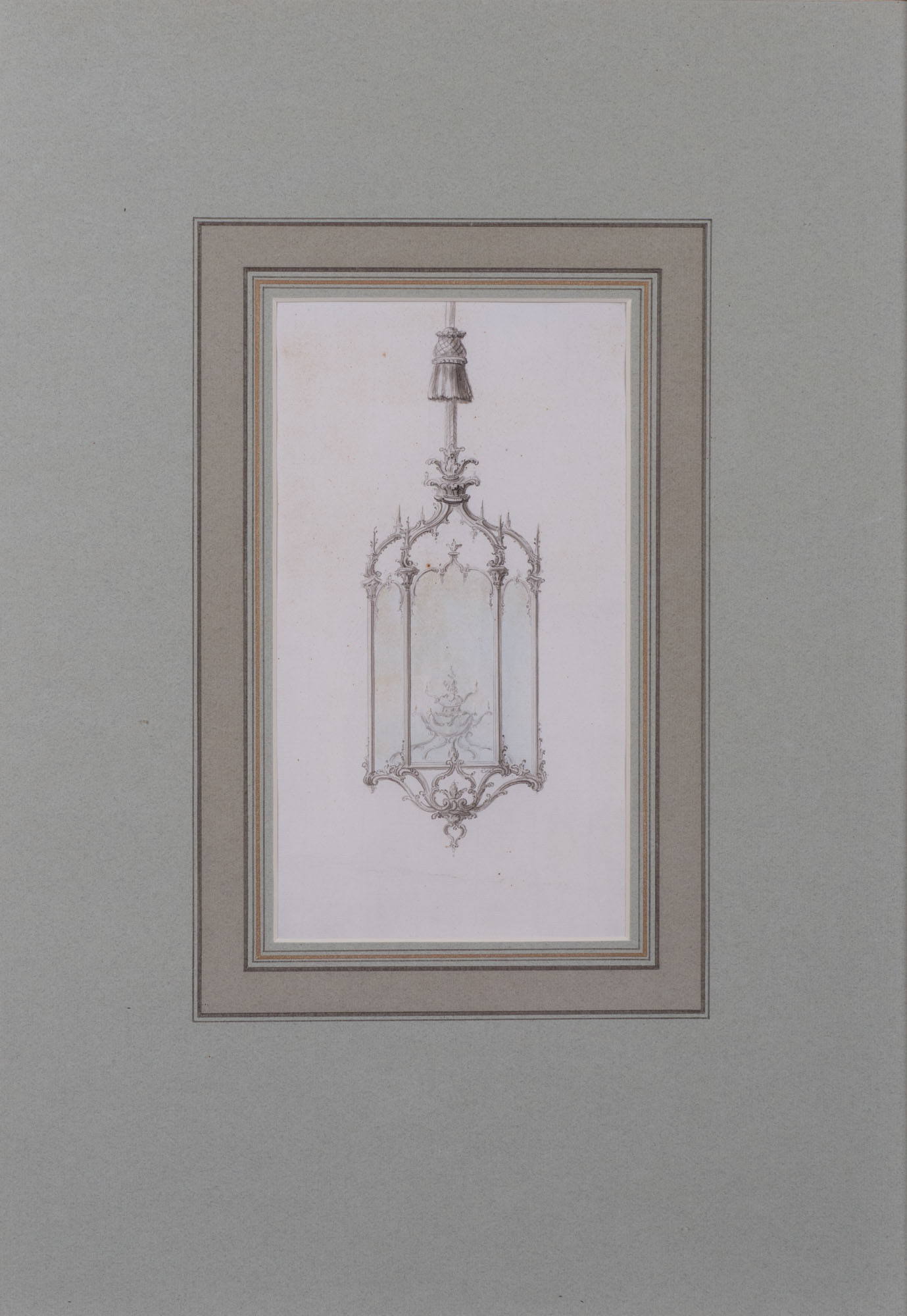 Design for a Hanging Lantern, English School, circa 1760.