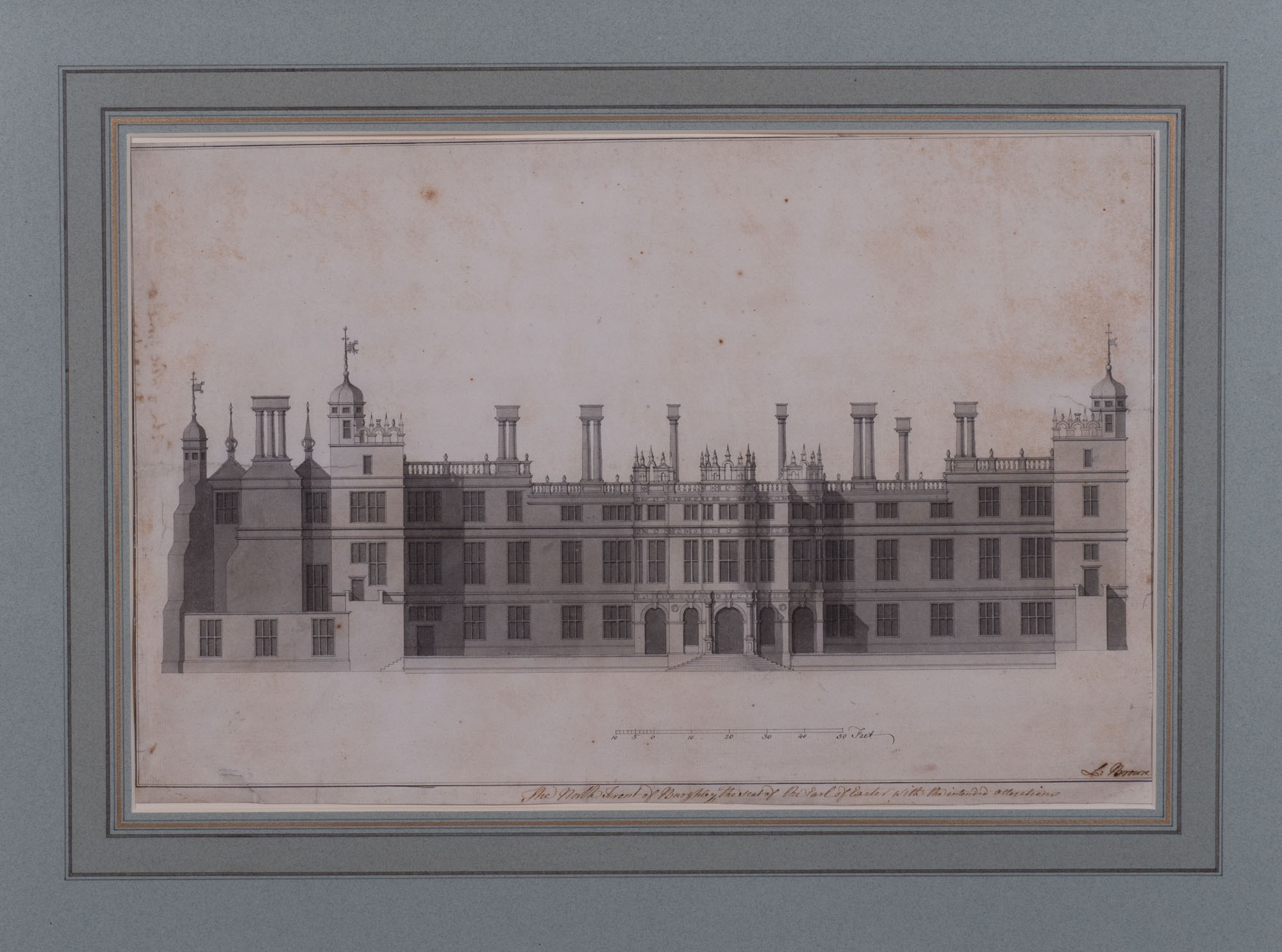The North Front of Burghley with Intended Alterations, by Lancelot 'Capability' Brown (c. 1716-1783).