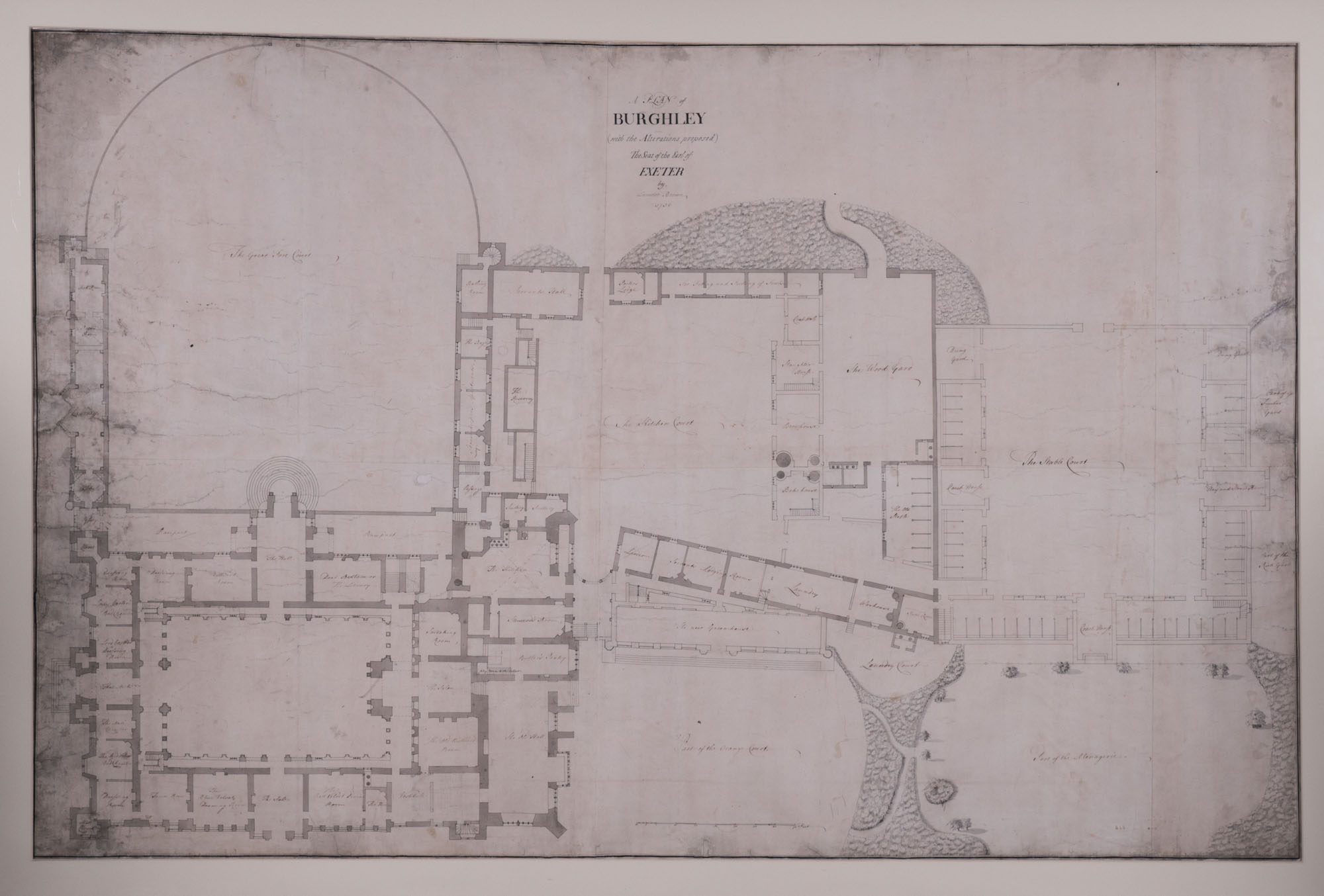 A plan of Burghley with  Proposed Alterations, by William Daniel Legg (d. 1806).