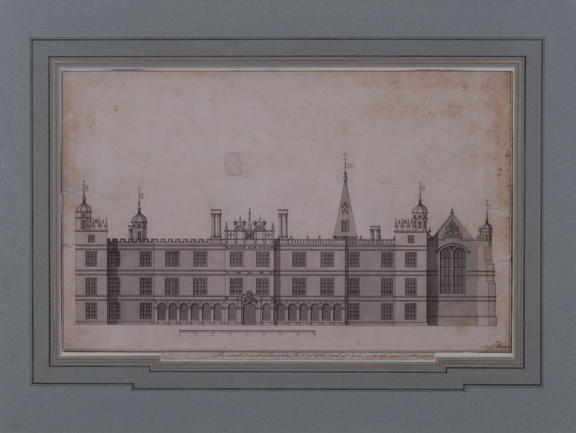 The South Front of Burghley with the Intended Alterations, by Lancelot 'Capability' Brown (1716-1783).