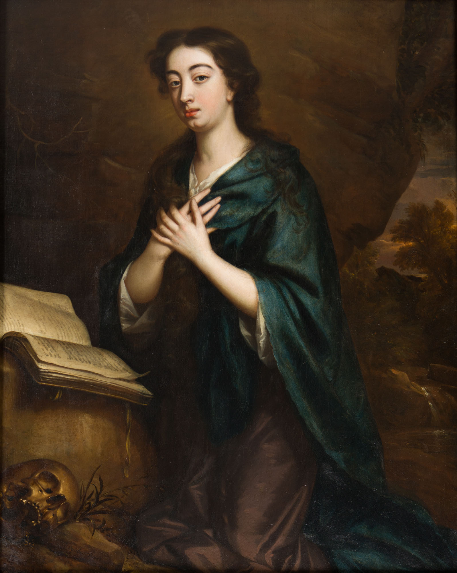 Portrait of Lady Williams, as St. Mary Magdalene Kneeling, by Jan Van Der Vaart (1647-1727).