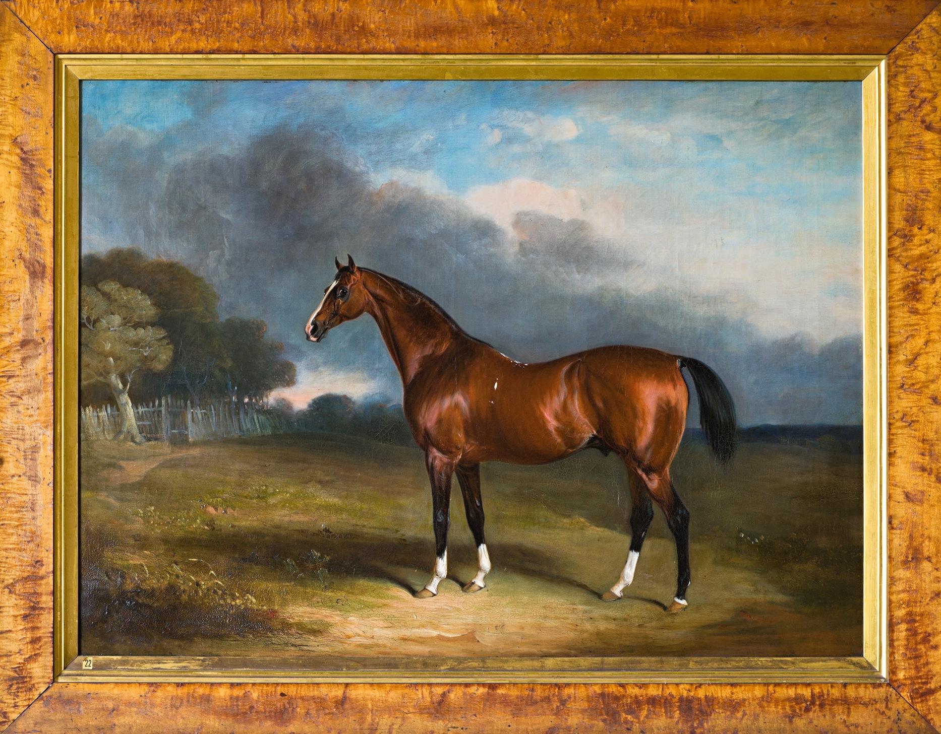Sultan, a Dark Bay Hunter in a Field, by John E. Ferneley (1781-1860).