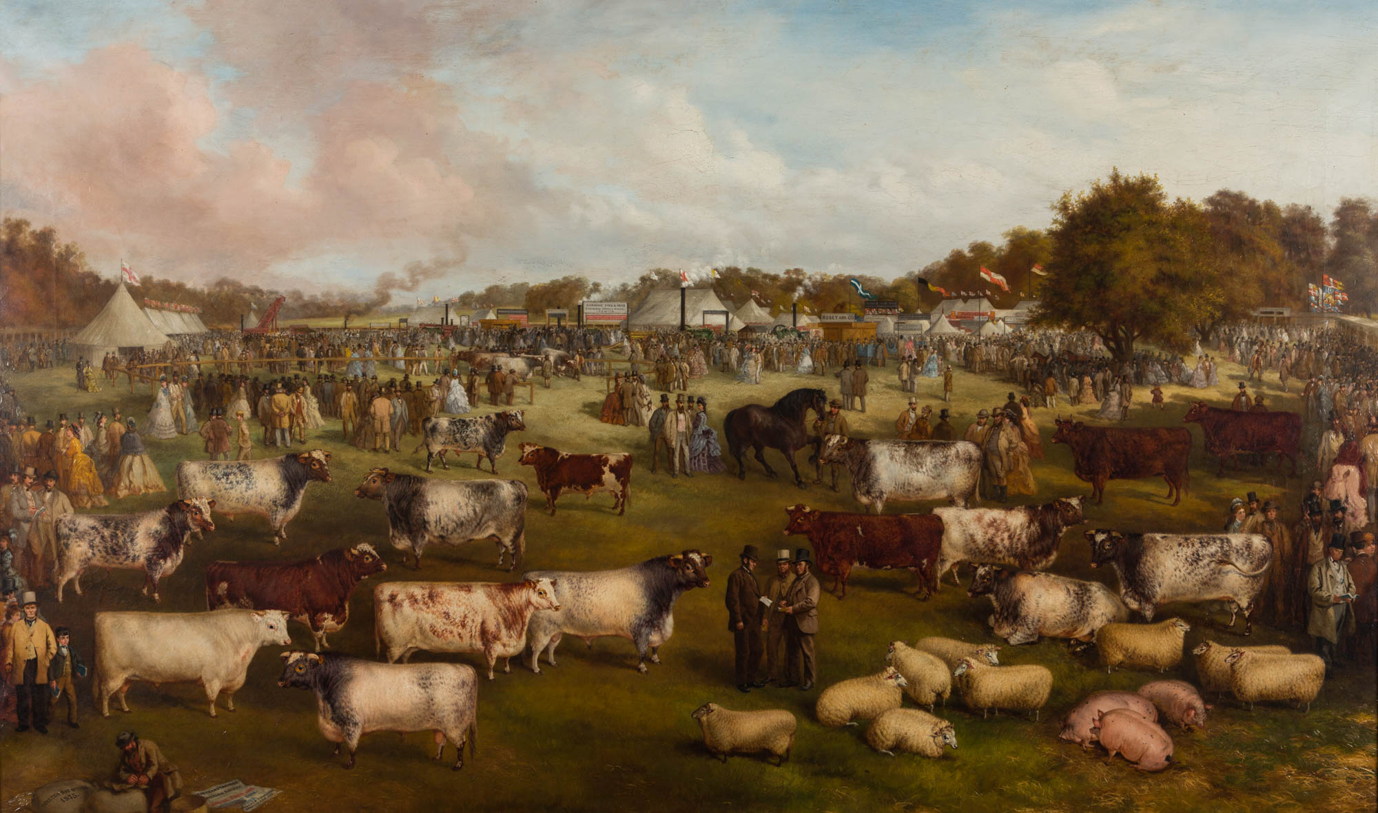 The Northamptonshire Agricultural Society's Annual Show Held at Burghley, September 1875, by Walter Ray Woods, (1823-1902).