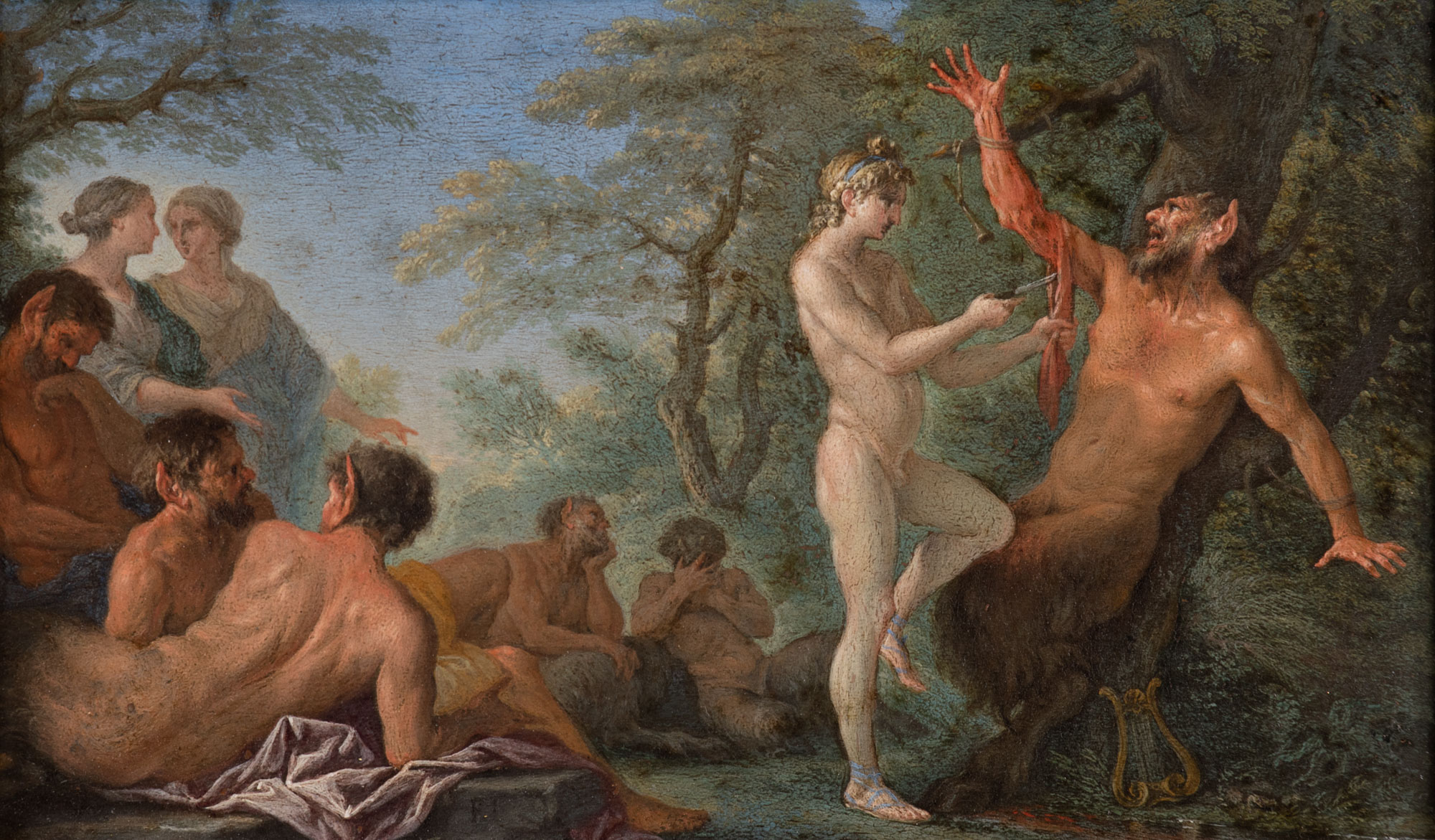 The Flaying of Marsyas, by Filippo Lauri (1623-1694).