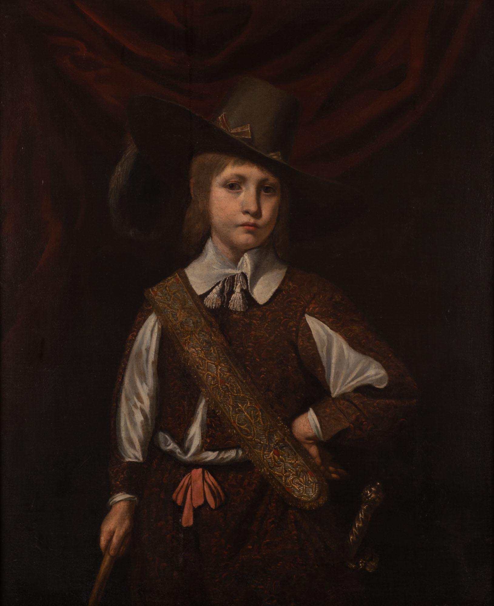 Portrait of a Young Boy, Follower of Ferdinand Bol (1616-1680).