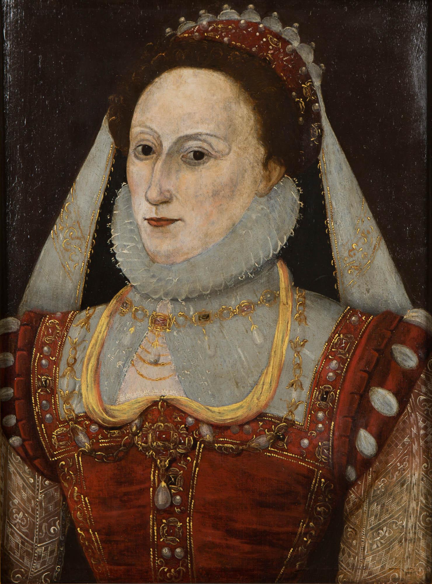 Portrait of Queen Elizabeth (1533-1603), English School.