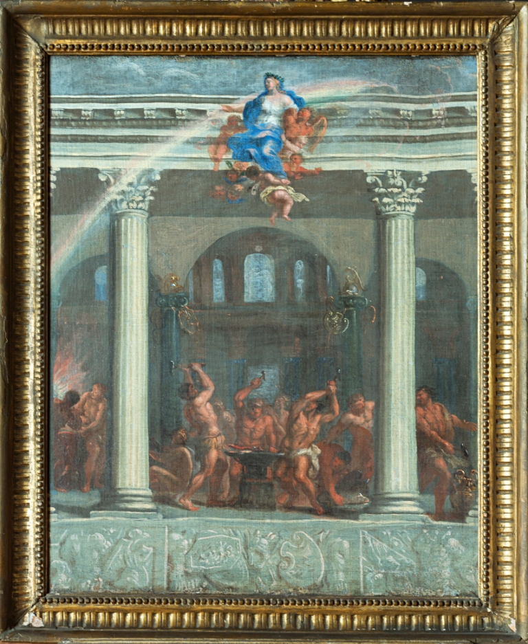 A Cartoon for the East Wall of the Heaven Room at Burghley, by Antonio Verrio (1639-1707).