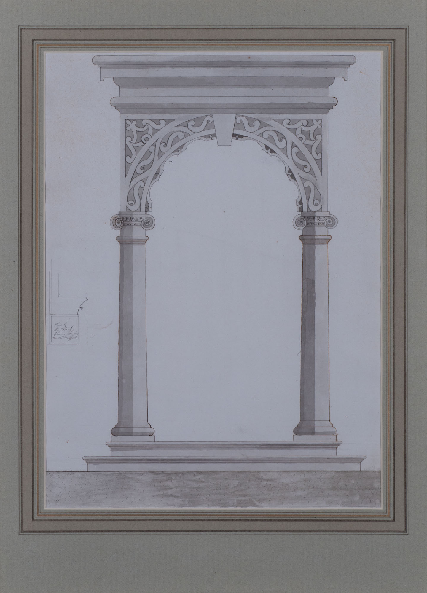 A Design for a Neo-Classical Porch, Attributed to the Office of Lancelot 'Capability' Brown (c. 1716-1783).