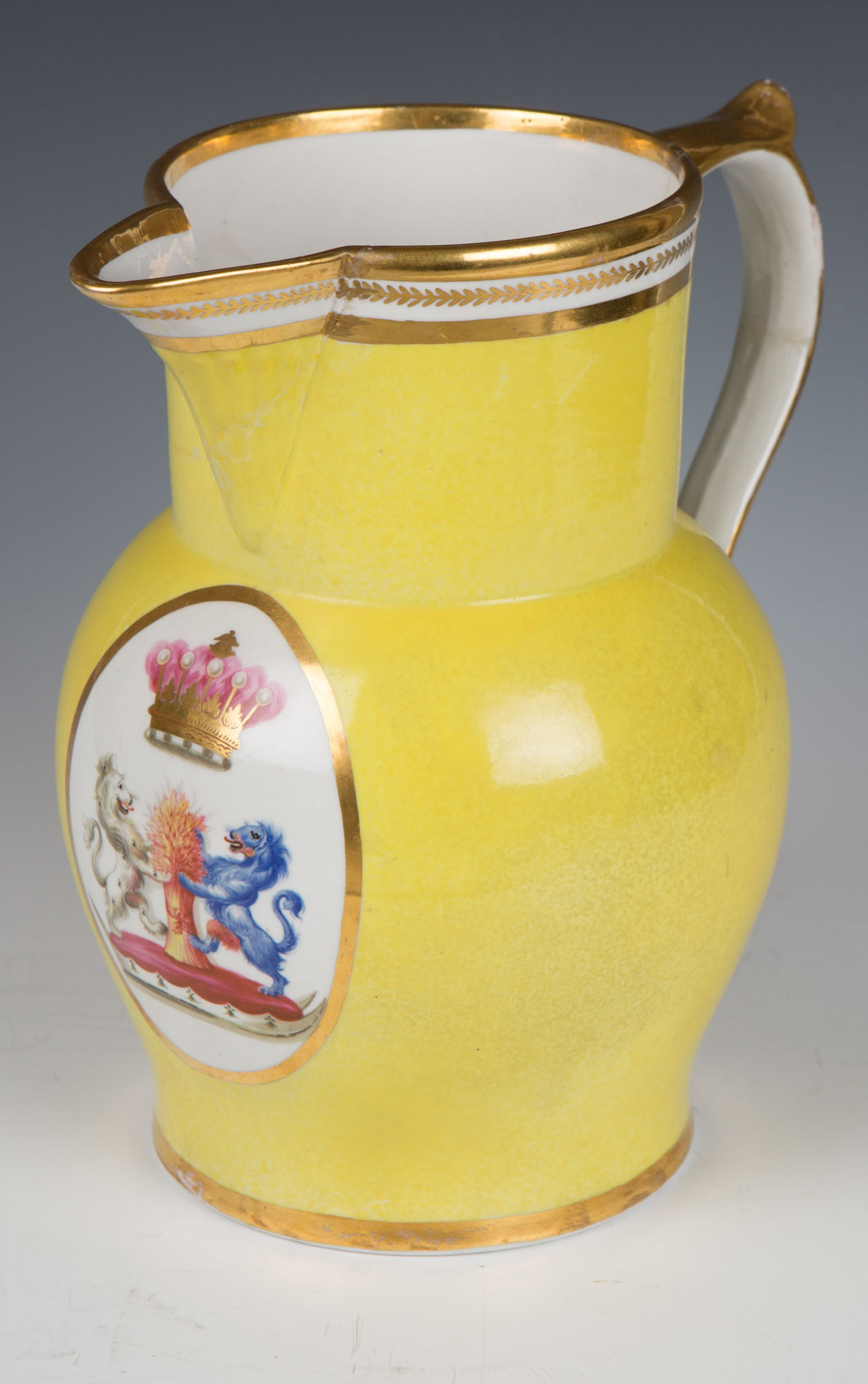 A Worcester armorial jug, circa 1790.