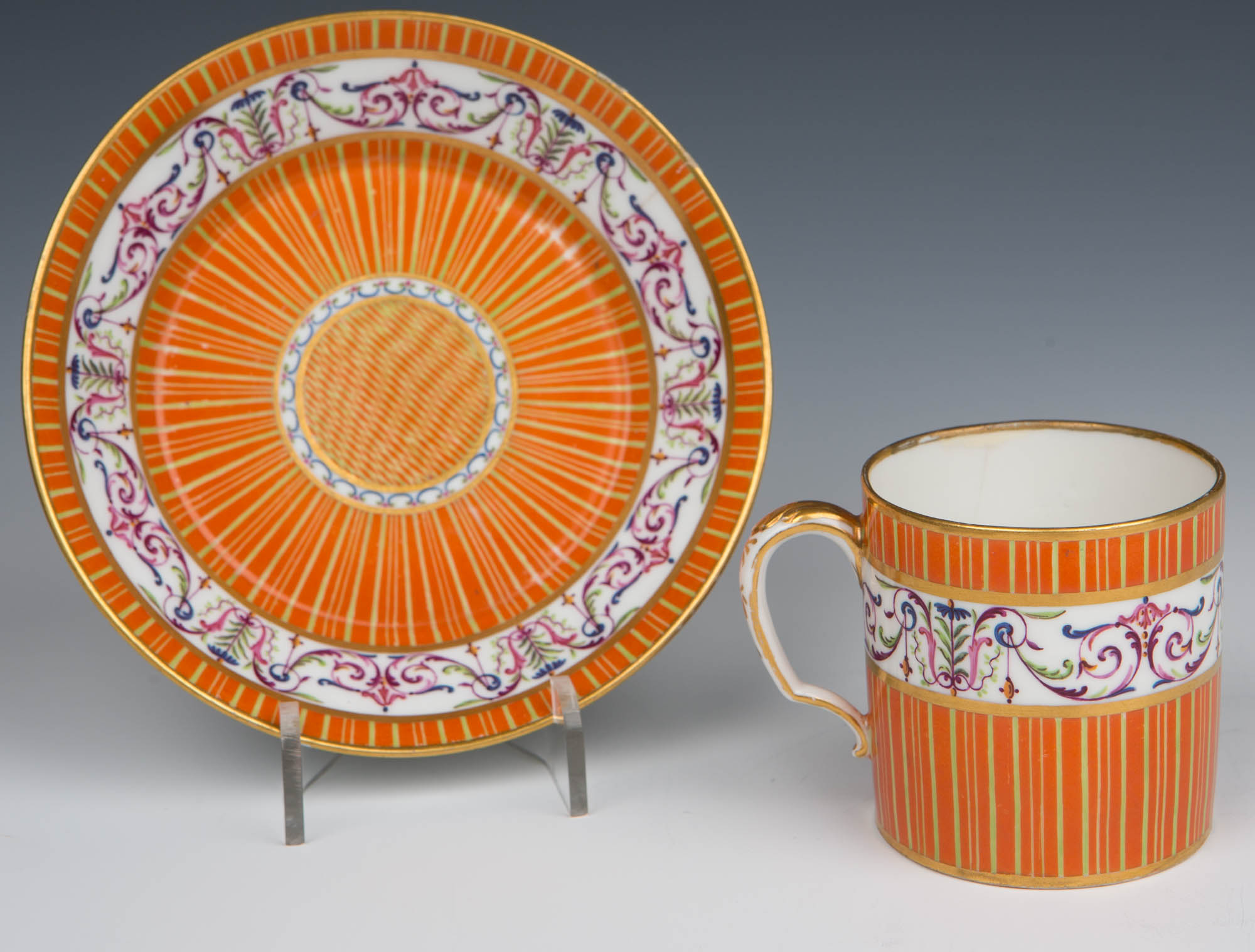 A Sèvres coffee-can and saucer, circa 1780/85.