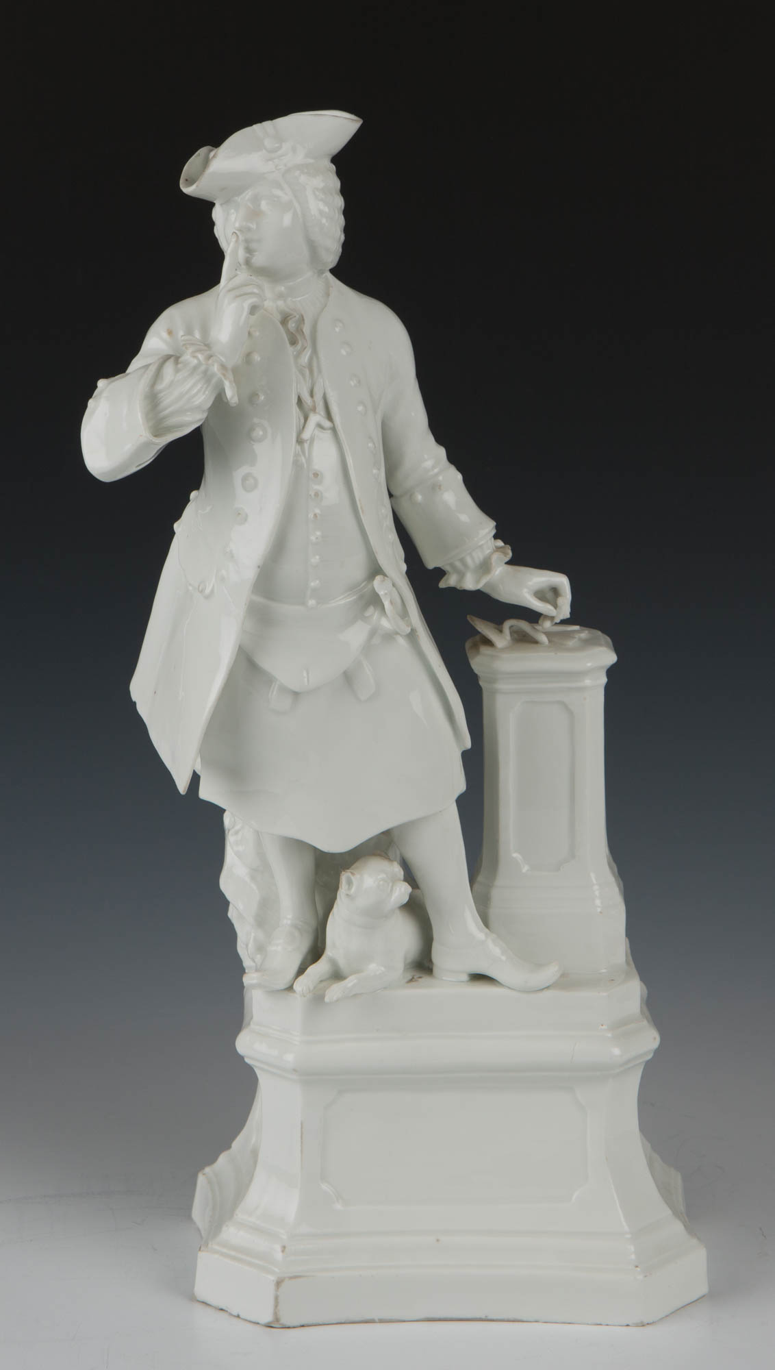 A Meissen figure of a Freemason, circa 1740/45.